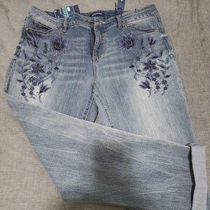 NWT Bandalino Cropped Jeans